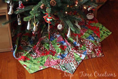 paper piecing christmas tree skirt life sew savory