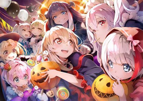 wallpaper azur lane halloween  pumpkins anime games