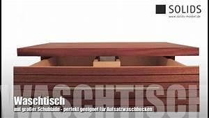 Waschtisch Für Aufsatzwaschbecken Aus Holz : solids waschtisch f r aufsatzwaschbecken massives holz mahagoni youtube ~ Sanjose-hotels-ca.com Haus und Dekorationen