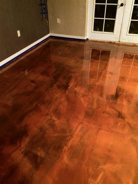 Epoxy Flooring Baton Rouge, LA   Brown Copper Metallic