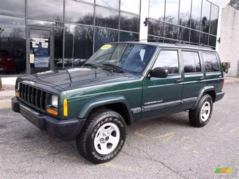 jeep cherokee sport green 2000 forest green pearl jeep cherokee sport 4x4 22215905
