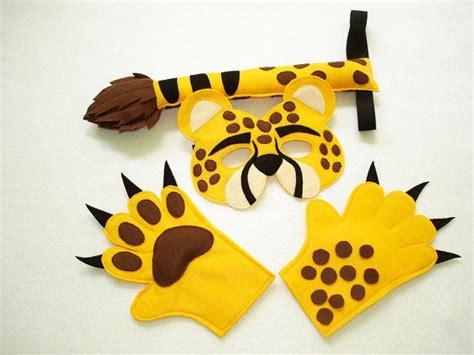 Children's Safari Animal Cheetah Felt Mask Tail And Paws