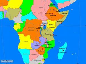 Africa: East Africa Political Map - A Learning Family