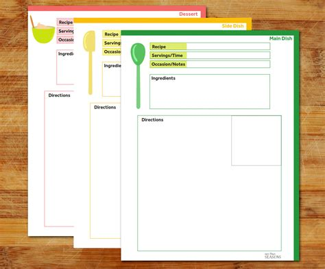 Page Recipe Template For Word by Recipe Page Recipe Template Dish Recipe Side Dish