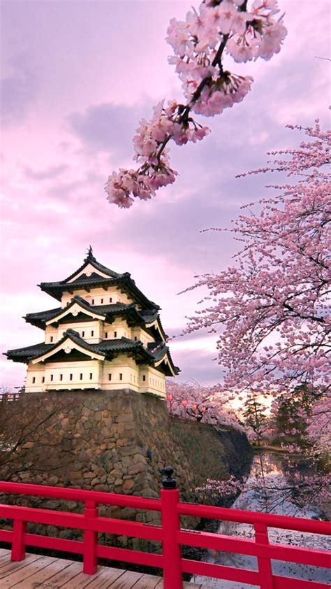 hirosaki castle japan full hd wallpaper iphone