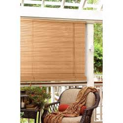 radiance 1 4 in oval pvc indoor outdoor roll up blind