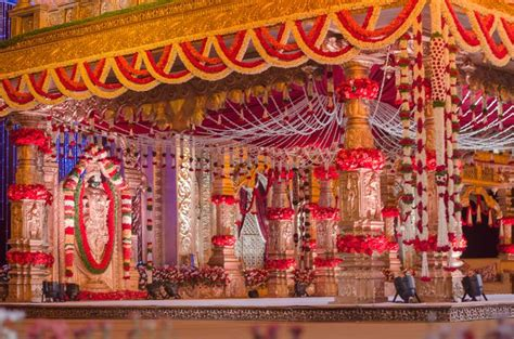mandap decoration       temple wedding