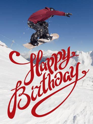 feel  winter happy birthday card birthday