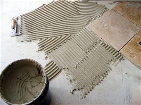 applying thinset mortar for tile