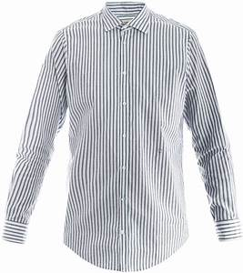 Black and White Vertical Striped Dress Shirt: Massimo Alba ...