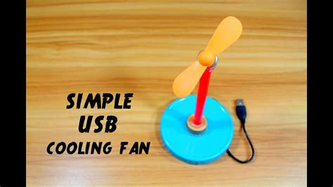 How To Make Usb Cooling Fan Youtube