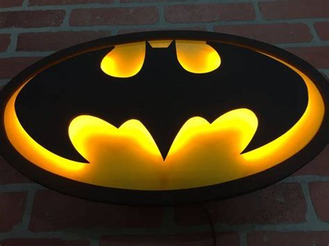 justice league batman batsignal logo led illuminated light wall for the