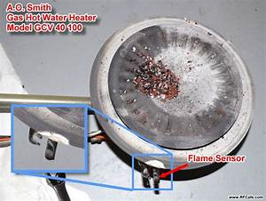 A O  Smith Gas Hot Water Heater Flame Sensor Repair