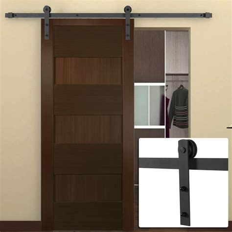 Closet Hardware by 6ft Antique Country Style Steel Sliding Barn Door Closet