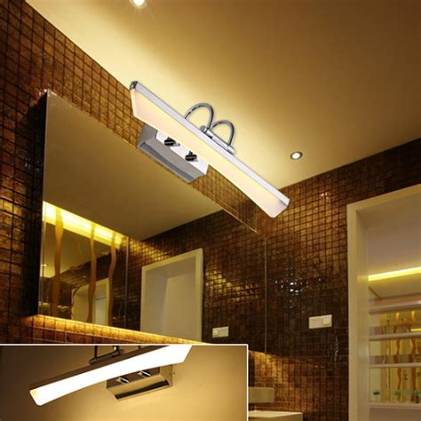 Led Bathroom Lighting Fixtures by Modern Stainless Steel Led Bathroom Make Up Lights Cabinet