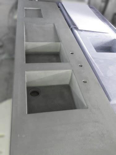 plan de travail cuisine evier integre évier béton intégré au plan de travail en béton balian
