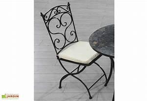 Chaise Fer Forgé : chaise jardin pliante fer forg coussin dcb garden ~ Teatrodelosmanantiales.com Idées de Décoration