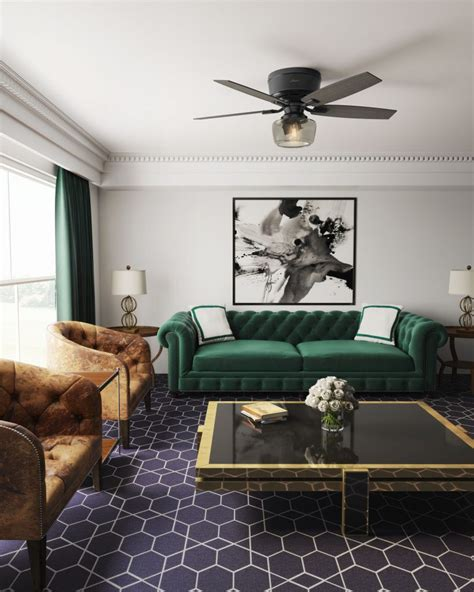 Big Living Room Fan by A Designer Touch The Ceiling Fan As A New Design Focal Point