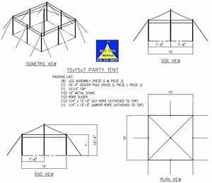 Canopy Tent Setup Diagram Provided By Big Ten Rentals