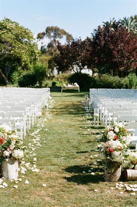 outdoor wedding aisle elizabeth designs the wedding