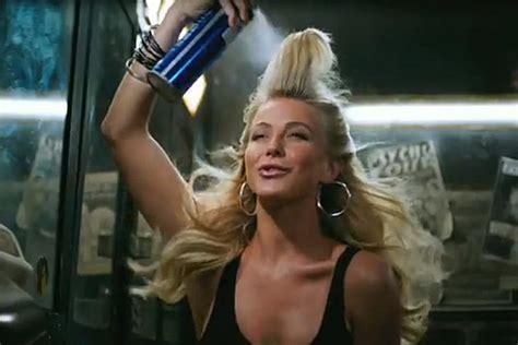 julianne hough flaunts big hair  rock  ages
