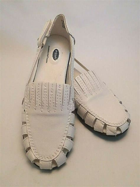 Skip to main content skip to footer. Dr Scholls Women's Sandals White Leather Double Air Pillo ...