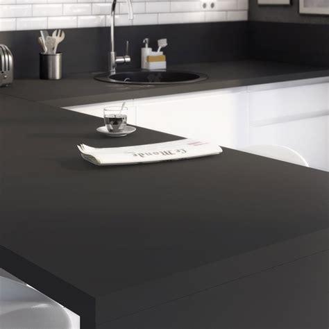 peinture stratifié cuisine plan de travail stratifié mat edition noir mat l 315 x p