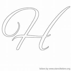 Images Of Fancy Cursive Letter H Summer