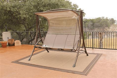 outdoor glider with canopy overview