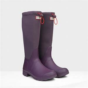 Hunter Original Tour Neoprene Rain Boots in Purple for Men ...