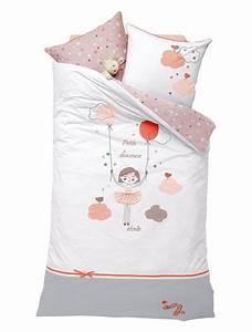 Housse De Couette Petite Fille : housse de couette fille th me ballerina girl blanc ~ Melissatoandfro.com Idées de Décoration