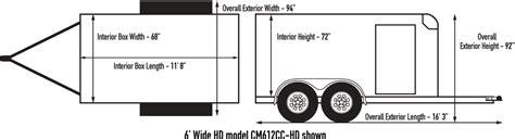 custom cargo 6 wide single tandem car mate trailers inc