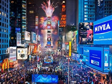 times square ball drop  years eve