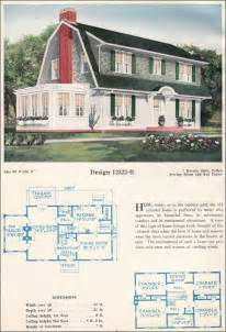 colonial revival house plans colonial revival gambrel roof with shed dormers c 1923 c l bowes antique home plans
