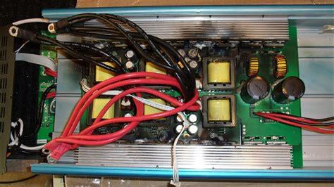 burnt   inverter  salvage operation