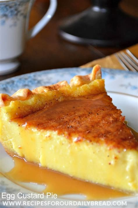Southern Egg Custard Pie Recipe