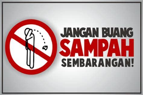 warga jangan buang sampah sembarangan metro sumatera