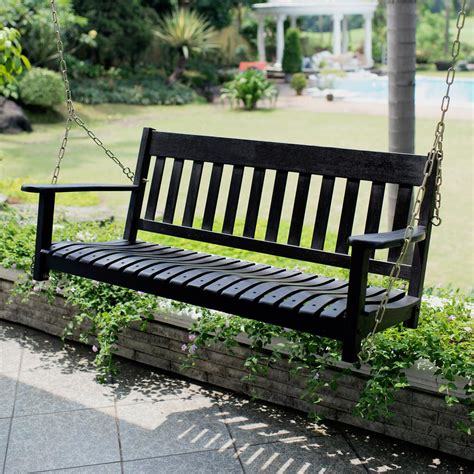 Wooden Porch Swings by Cambridge Casual Thames Black Wood Porch Swing Hd 130228