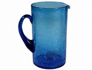 Carafe En Verre : carafe eau en verre souffl bleu turquoise produit d 39 artisanat ~ Teatrodelosmanantiales.com Idées de Décoration