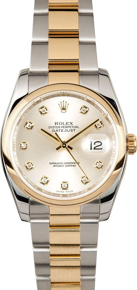 Rolex Datejust 116203 Silver Diamond Dial