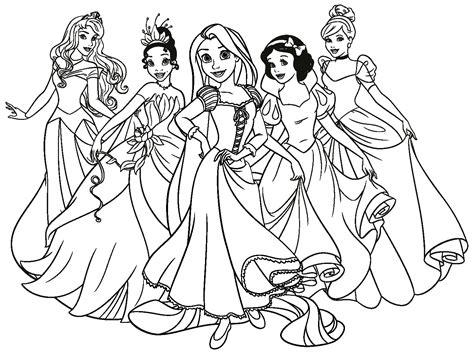 disegni da colorare walt disney   principesse disney