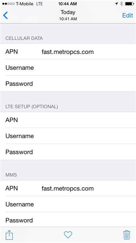 metro pcs apn iphone setting up your metro pcs cellular data