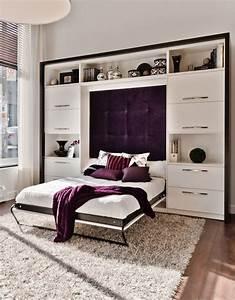 Lit Avec Tv Escamotable : 65 best lits escamotables sur mesure images on pinterest ~ Nature-et-papiers.com Idées de Décoration
