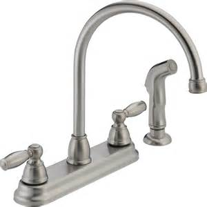 high arc kitchen faucet reviews shop peerless stainless 2 handle high arc deck mount kitchen faucet at lowes