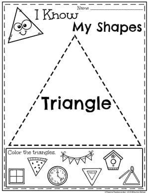shapes worksheets planning playtime 161 | Kindergarten Shapes Worksheets Triangles