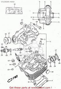 Suzuki Gn125 1997  V   E01 E02 E04 E18 E21 E22  Cylinder