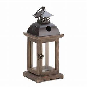 monticello wood lantern at koehler home decor With decorative lanterns for wedding