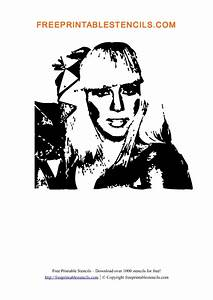 Lady Gaga Printable People Stencils | Free Printable Stencils