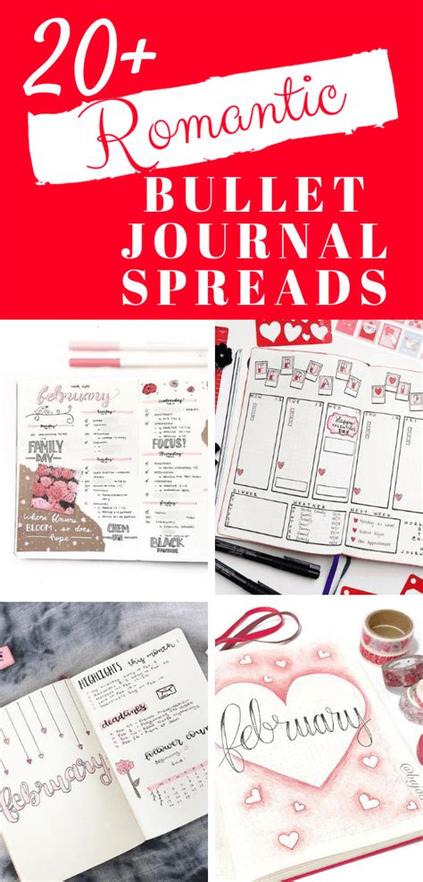 Valentine's Themed Ideas For Your Bullet Journal | Little ...