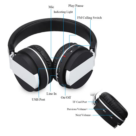 iphone headphones foldable wireless stereo bluetooth earphone headphone